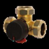 Клапан четырехходовой переключающий/отводной  ESBE VRG238 DN20, латунь, 10 бар, Kvs 17, 3xRN1  (компрессионный фитинг)