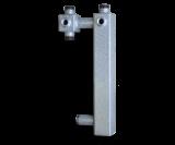 Основание для сборки насосной группы  с возможностью установки трехходового смесительного клапана Север Осн/S