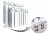 Биметаллический 13-секционный радиатор Rifar Monolit Ventil 500 (577x1040x100, 2548Вт)