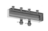 Коллектор из черной стали 3 отопительных контура (длина 1195 мм) 6 бар, 110С