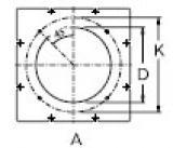 Пластина с отверстиями под горелку DN210/230 M10