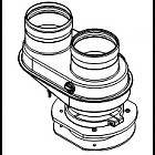 Присоединительный элемент к котлу с переходом на DN80/80