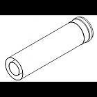 Удлинительный элемент DN60/100, L=350 мм