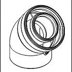Угловое колено DN60/100 45°