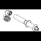 Телескопический горизонтальный комплект DN60/100, L=425-725 мм