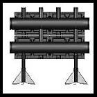 Распределительная гребенка Meibes  из черной стали на 2 контура, тип V200, Victa